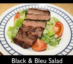 black blue salad